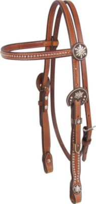 Martin Saddlery Headstall with Snowflake Buckles and Dots