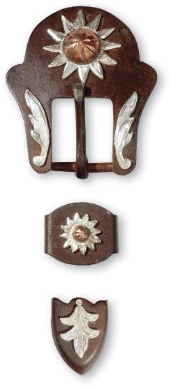 Martin Saddler Copper Flower Buckle Set Best Price