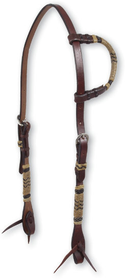 Martin Saddlery Chocolate Slip Ear Headstall with Rawhide Best Price