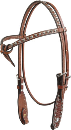 Martin Saddlery BasketWeave Tie Front Headstall Best Price