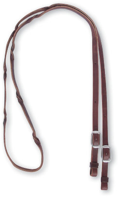 Martin Saddlery Barrel Reins with Blood Twist