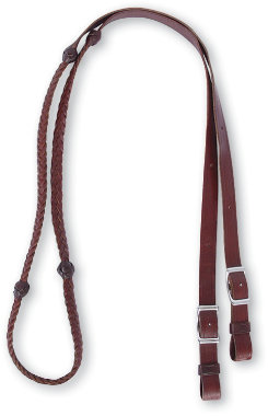 Martin Saddlery Barrel Reins with Braided Knots Best Price