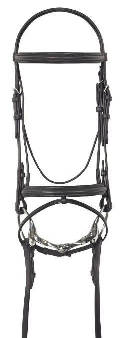 Camelot Lined Event Bridle with Flash and Rubber Grip Reins