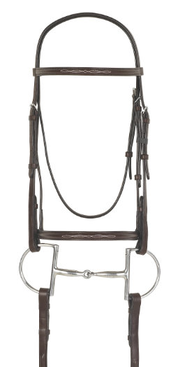 Camelot Raised Fancy Stitched Snaffle Bridle with Laced Reins