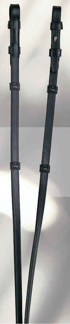 Anky Plain Leather Reins with Leather Stops