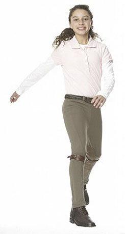 Ovation Kid's EuroWeave Knee Patch Front Zip Jodhpurs Best Price