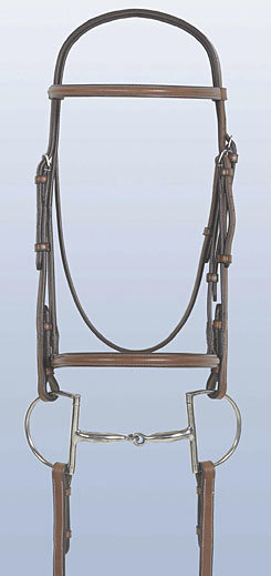 Rodrigo Plain Raised Bridle with Laced Reins