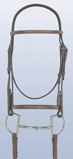 Rodrigo Fancy Stitched Bridle with Raised Fancy Stitched Laced Reins