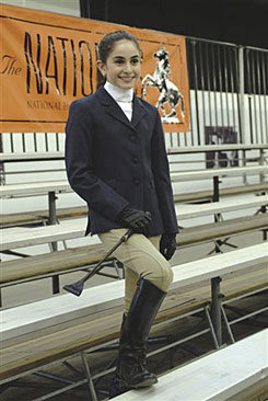 Ovation Child's Sport Riding Jacket                 <font color=#000080> -SIZE:  18 Petite  COLOR:  Brown/Stripe</font> Best Price