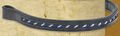 Ovation Navy/Silver Slashes Browband