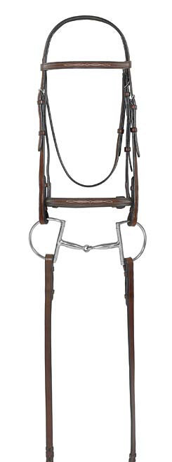 Camelot Select Fancy Stitched Round Raised Bridle with Laced Reins Best Price