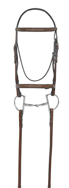 Camelot Select Fancy Round Raised Padded  Bridle with Laced Reins Best Price