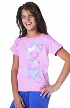 Ovation Girls Graffiti Hearts Tee Shirt