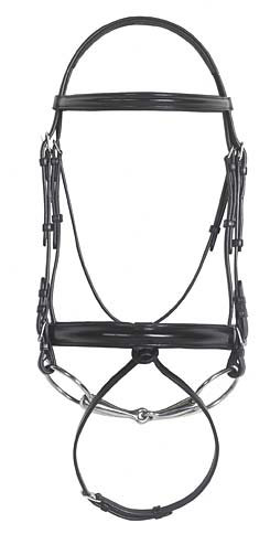 Ovation Wide Hidden Flash Dressage Bridle