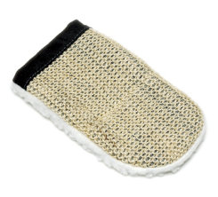 Sisal and Fleece Grooming Mitt