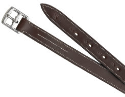 Camelot Nylon Lined Stirrup Leathers-Brown Best Price