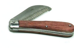 Folding Stripping Comb w/ Wood Handle