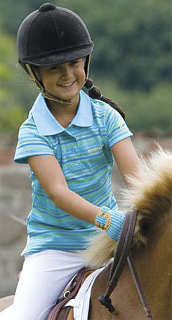 Mountain Horse Kids Cameron Pique Polo Shirt