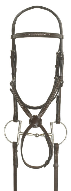 Ovation Jumper Bridle with Rubber Covered Reins Best Price