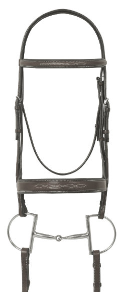 Ovation Fancy Wide Padded Bridle with Lace Reins