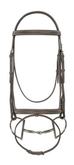 Ovation Padded Bridle with Flash and Anti-Slip Reins