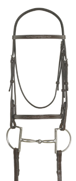 "Ovation Fancy Raised Bridle with 66"" Reins"