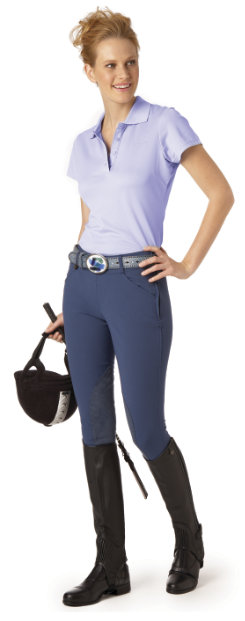 Ovation Ultra DX Ladies Side Zip Knee Patch Breeches -SIZE: 34 COLOR: Lt Tan Best Price