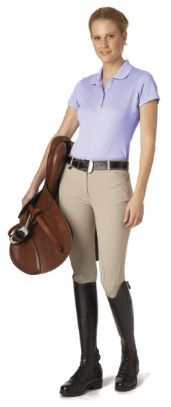 Ovation Ladies Ultra DX EuroSeat Knee Patch Riding Breeches
