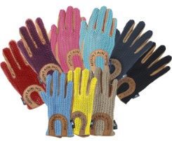 Mountain Horse Kids' Crochet Riding Gloves