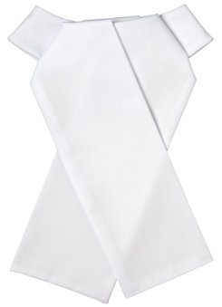 Ovation Cotton Twill Ready Tied Stock Tie
