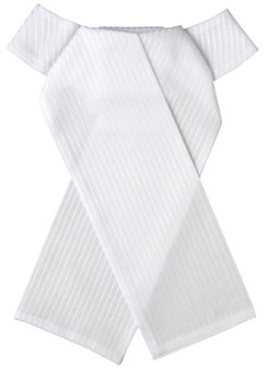 Ovation Cotton Tone-on-Tone Ready Tied Stock Tie Best Price