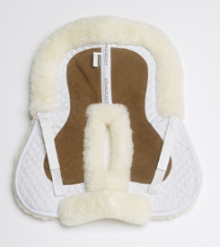 Ovation Sheepskin Half Saddle Pad with Suede
