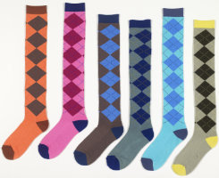 Ovation Ladies Argyle Long Boot Socks