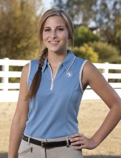 Romfh Ladies Sleevless Zip Polo Top Best Price