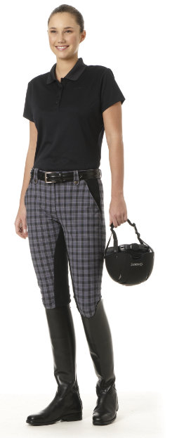 Ovation Ladies Fashion Plaid DX Full Seat Riding Breeches