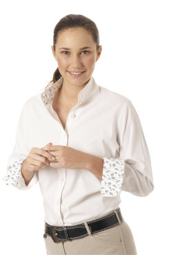 Ovation Ladies Ultra Lite Stretch Long Sleeve Show Shirt Best Price