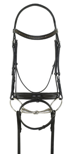 Ovation Patent Leather Bridle with Crystal Browband