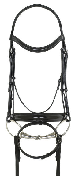 Ovation Patent Leather Dressage Bridle