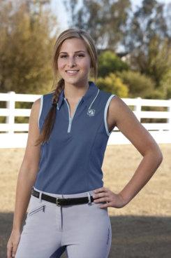 Romfh Ladies Sleeveless Zip Polo Shirt Best Price