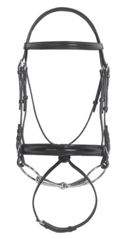 Ovation Wide Noseband Dressage Bridle with Rubber Reins Best Price