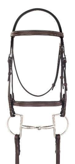 Camelot Gold Raised Padded Flash Bridle with Reins Best Price