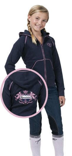 ER OV Grls Pink Diamond Zip Hoodie Best Price