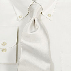 Essex Classics Men's White Silk Tie