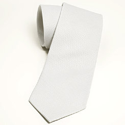 Essex Classics Mens White Pique Tie
