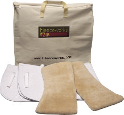 Fleeceworks Complete All Purpose and Close Contact Saddle Pad Package