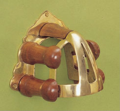 Horse Fare Brass and Wood Bridle Rack