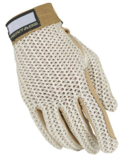 Heritage Crochet Riding Gloves - Childs