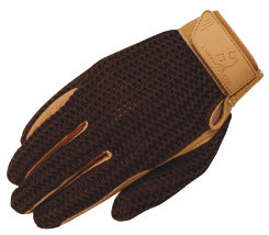Heritage Crochet Riding Gloves - Ladies