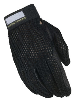 Heritage Crochet Riding Gloves - Mens