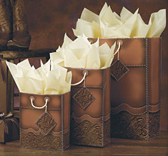 Horseshoe Gift Packaging Tooled Leather Gift Bags Best Price